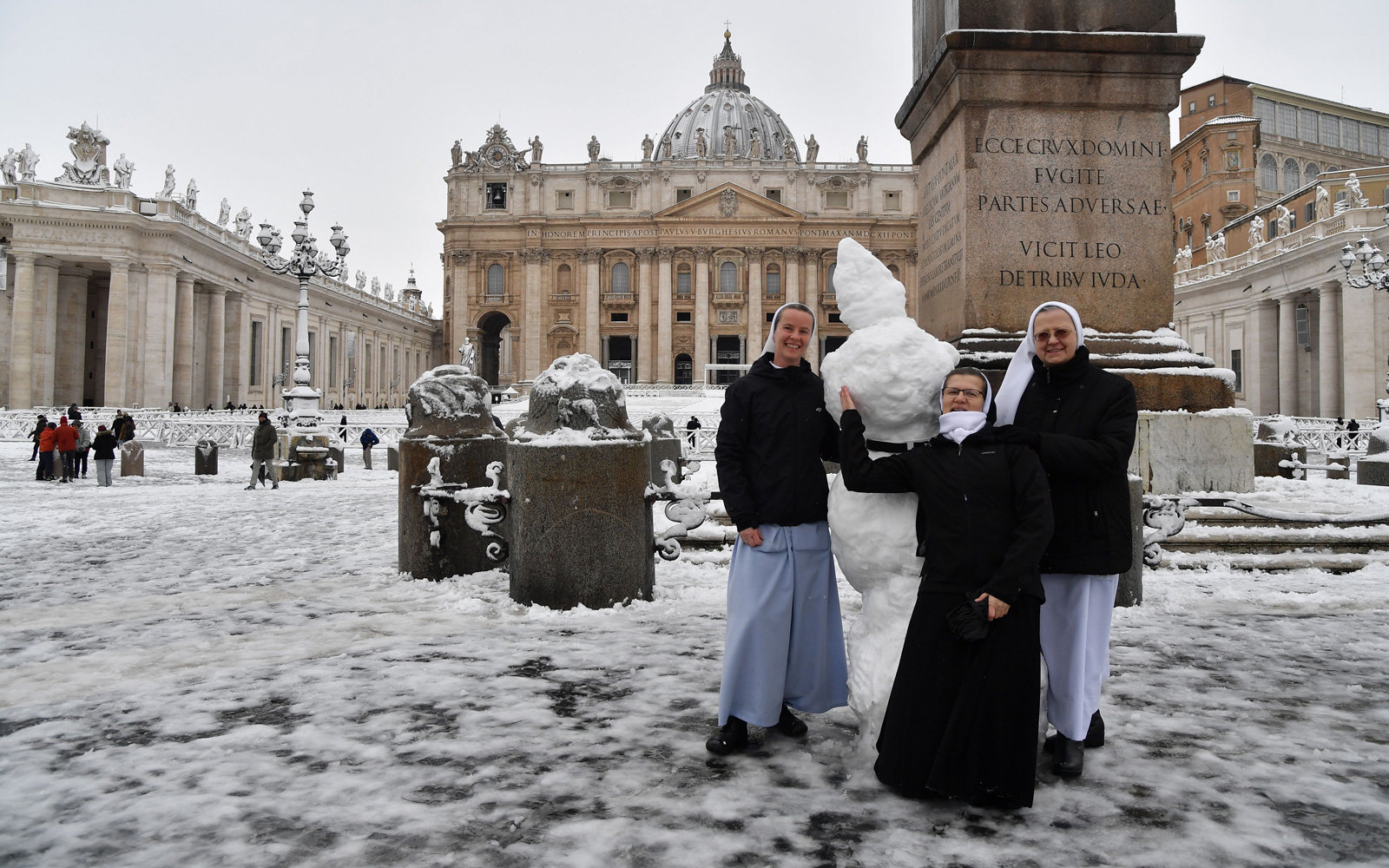 Priests Threw Snowballs And Nuns Built Snowmen During Rome