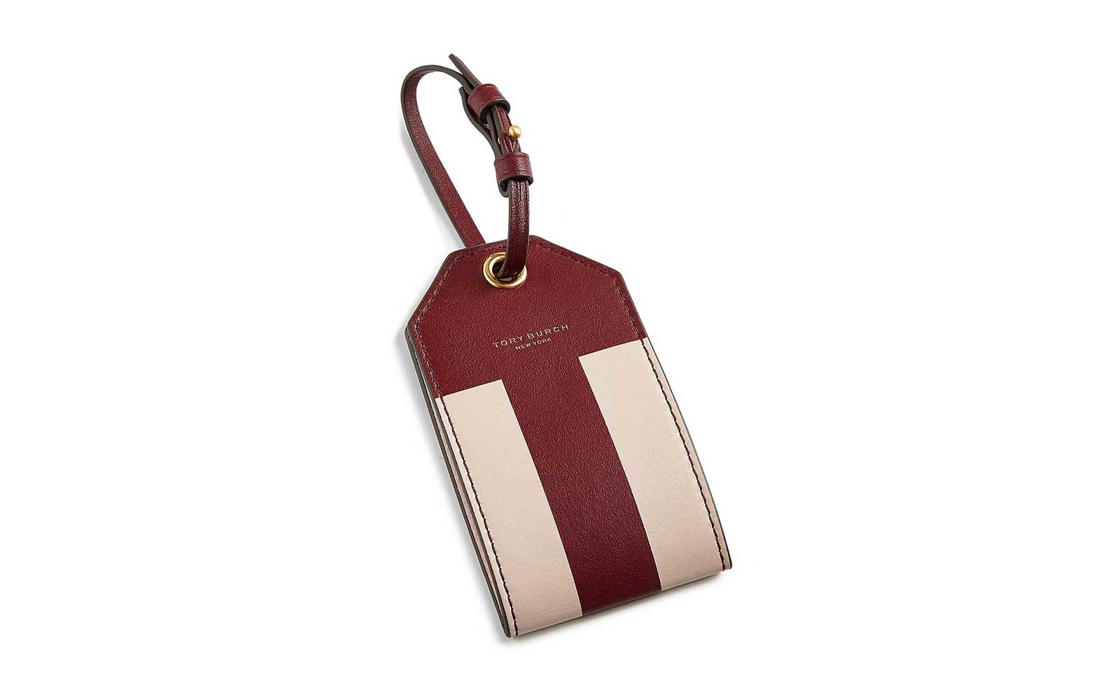 cute tory burch luggage tag