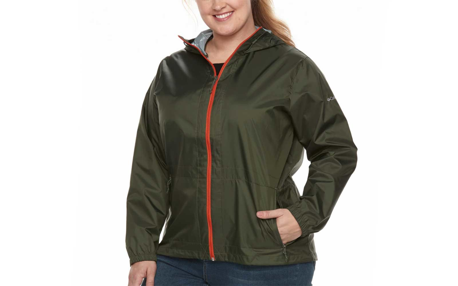 columbia plus size packable rain jacket