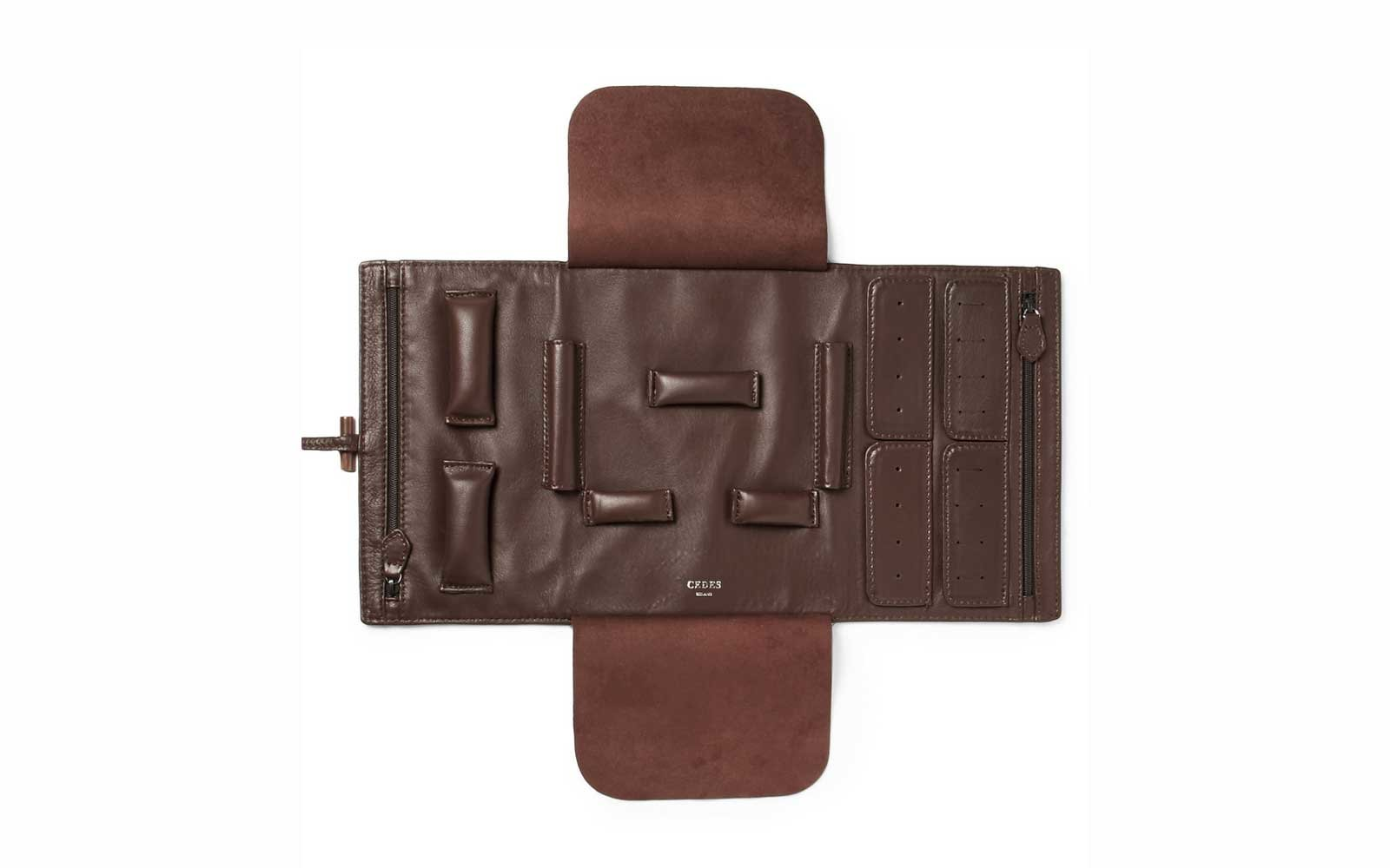 Cedes Milano Leather Jewelry Roll