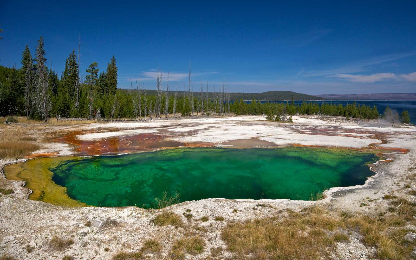 Abyss Pool, West Thumb Geyser Basin, Yellowstone National Park, UNESCO World Heritage Site, Wyoming
