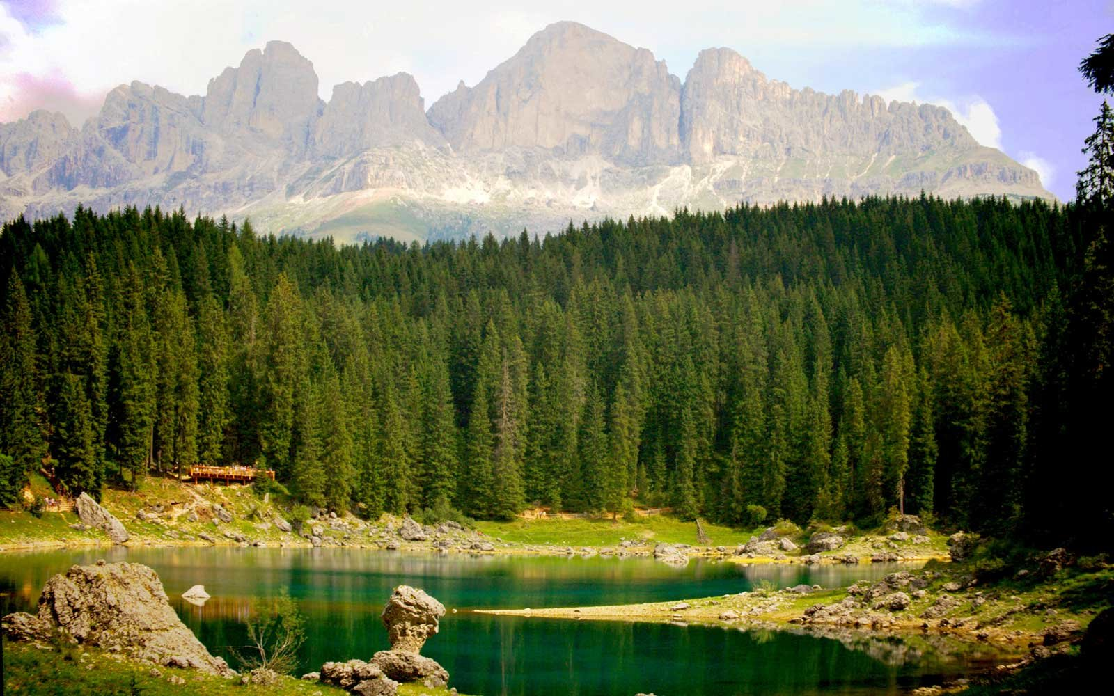 Lake Carezza, Trentino in Italy