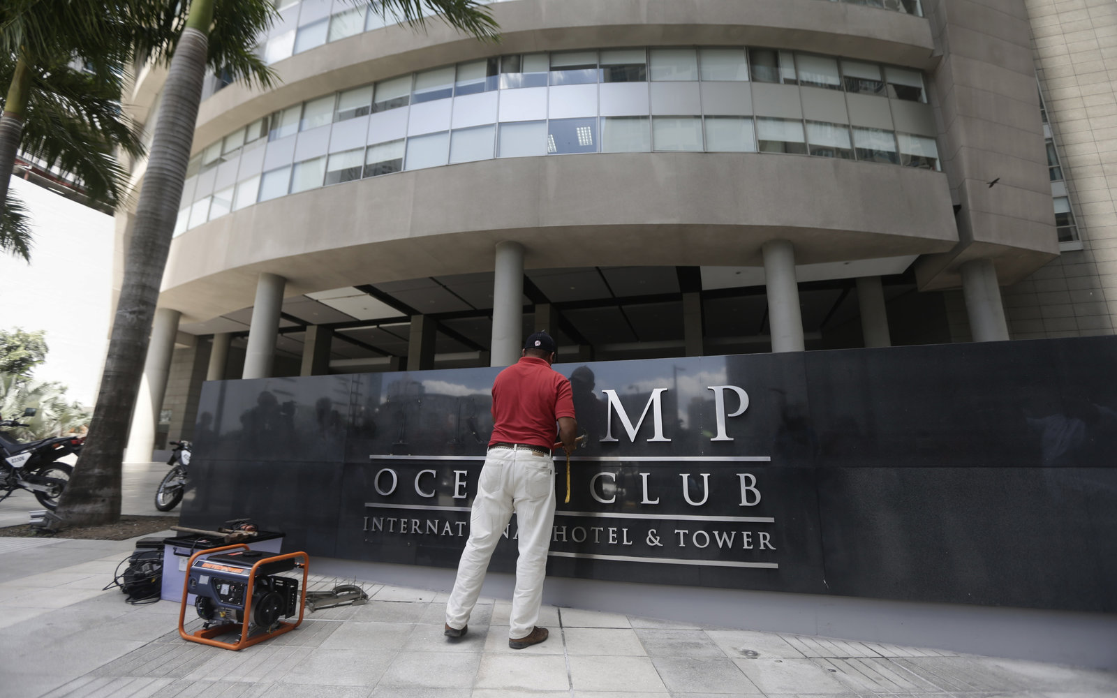 Trump name removed from Panama hotel in property dispute
