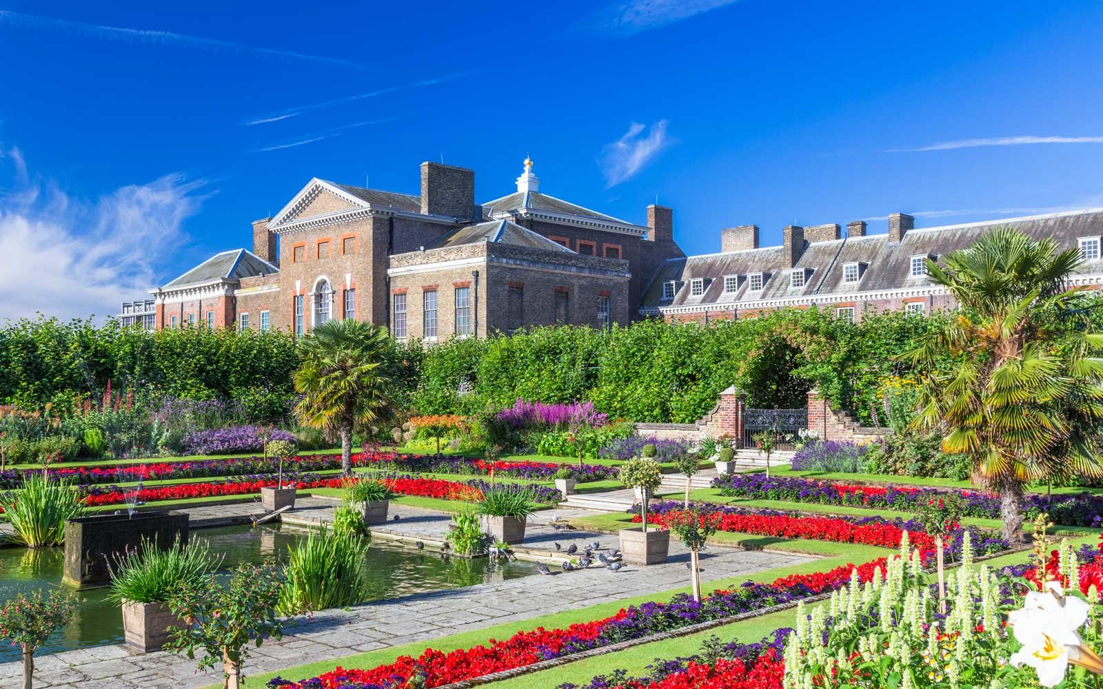 Vibrant gardens at Kensington Palace, in the UK