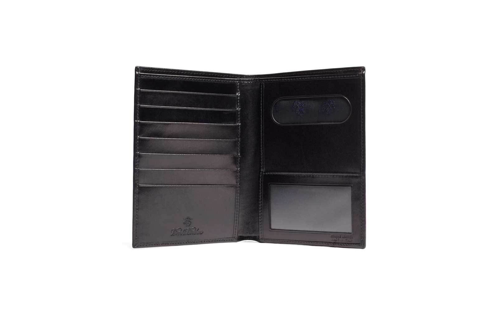 brooks brothers leather passport holder