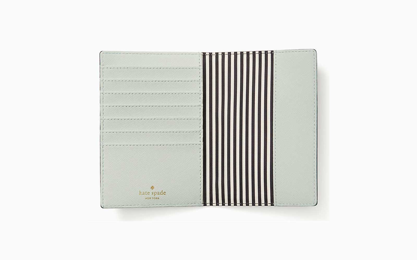 leather kate spade passport holder