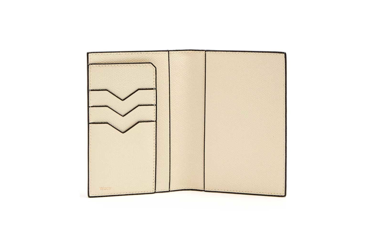 leather valextra passport holder