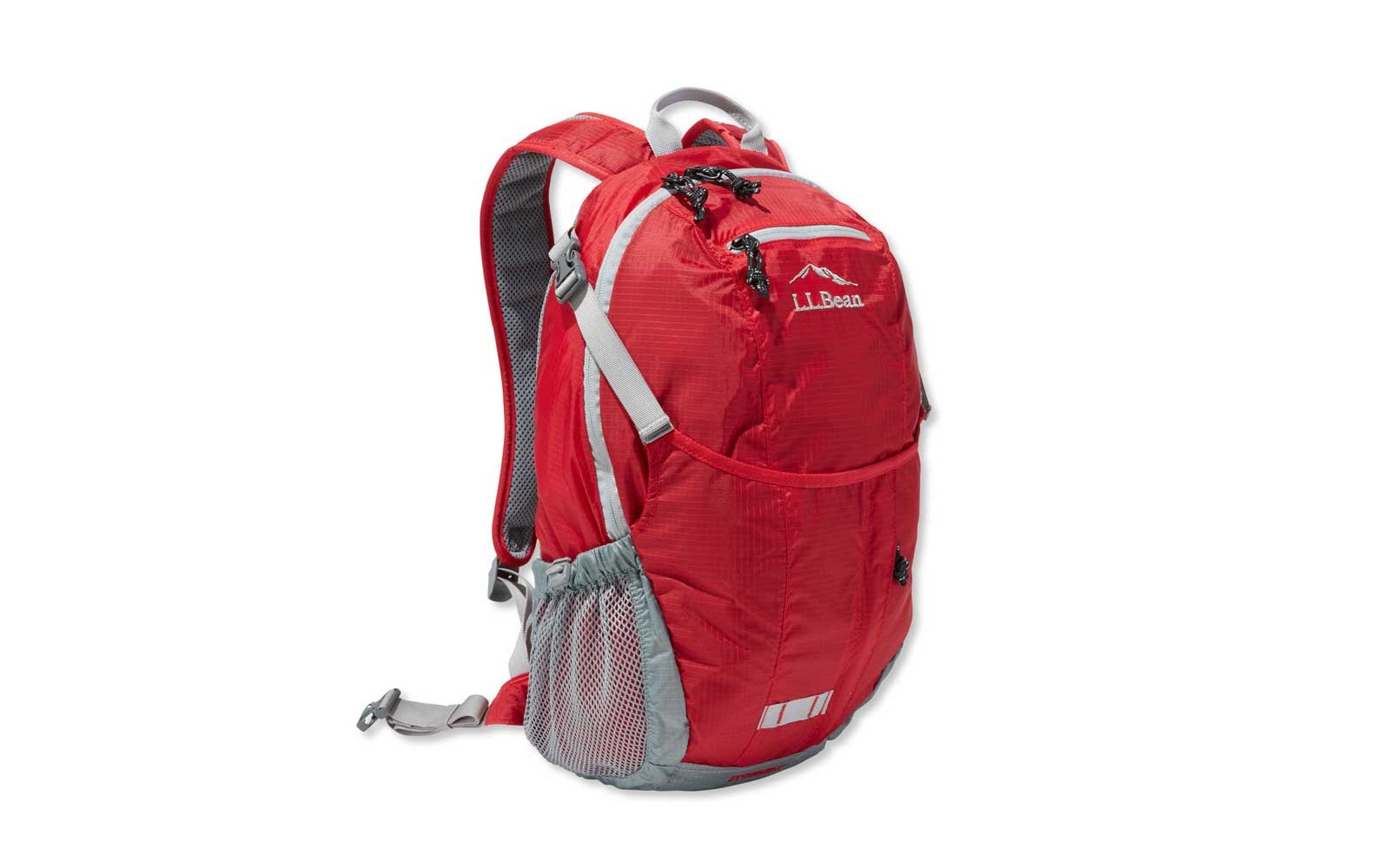 llebean red packable backpack