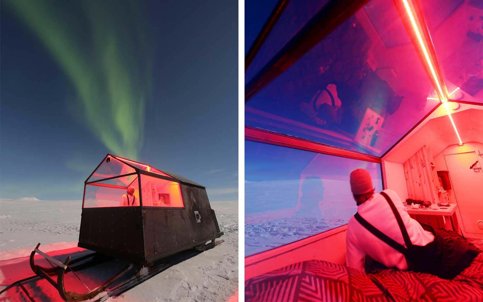 This 'Sled Hotel' Takes You Straight to the Best Views of the Northern Lights