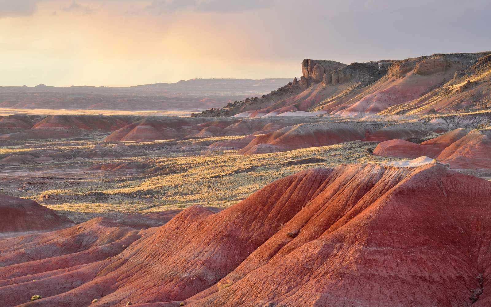 Sunset in the Painted Desert National Park