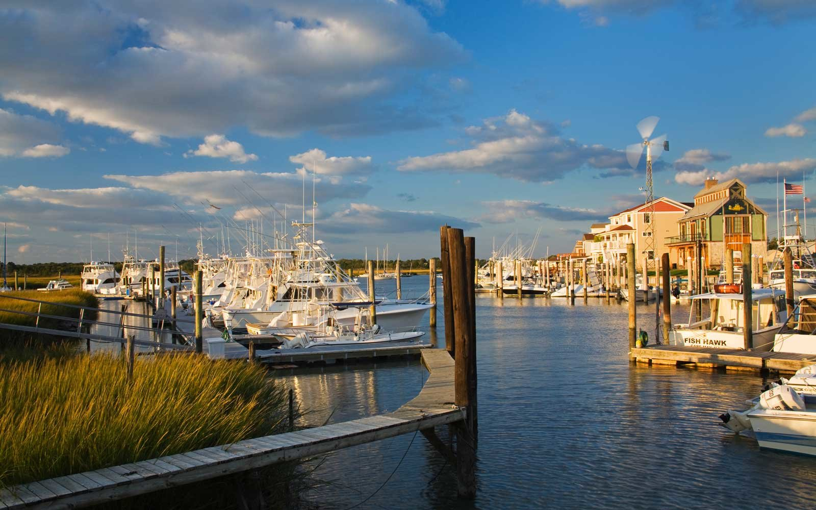 Cape May harbour.