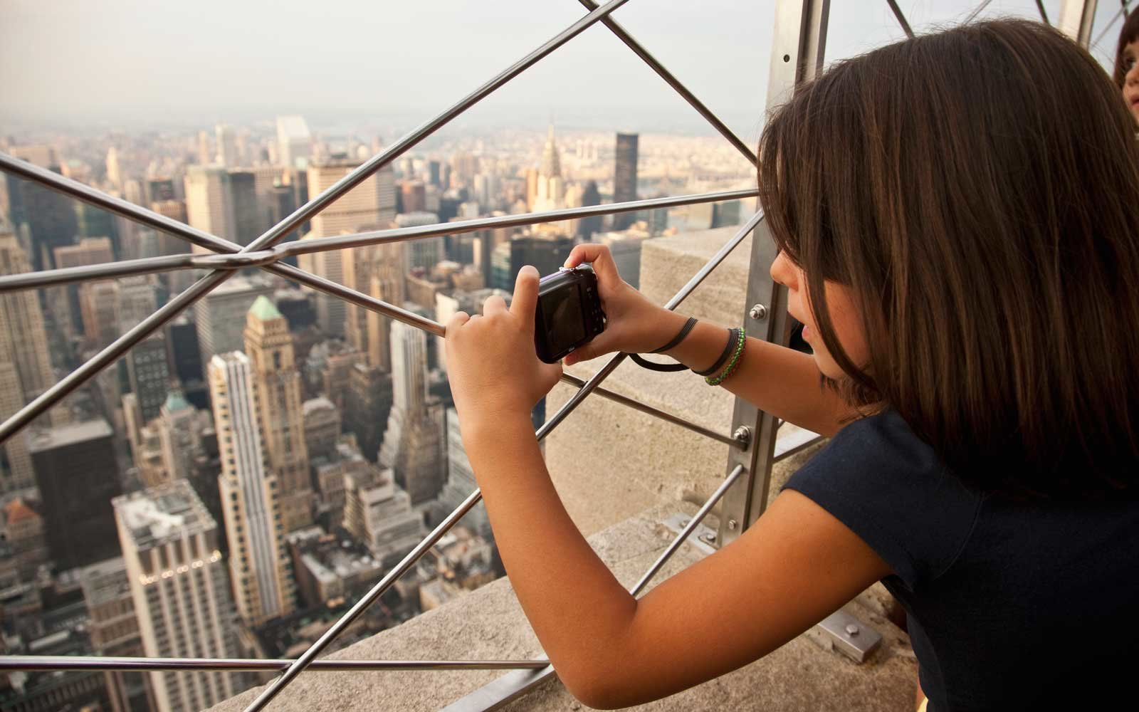Taking a photo at the Empire State Building