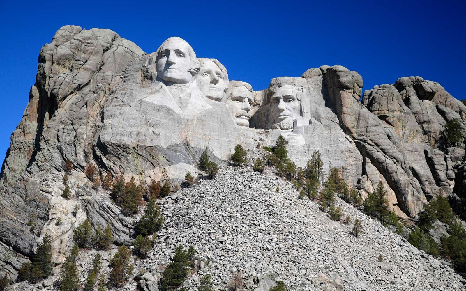 Mount Rushmore on a fine day - seen from the Grand View Terrace 2