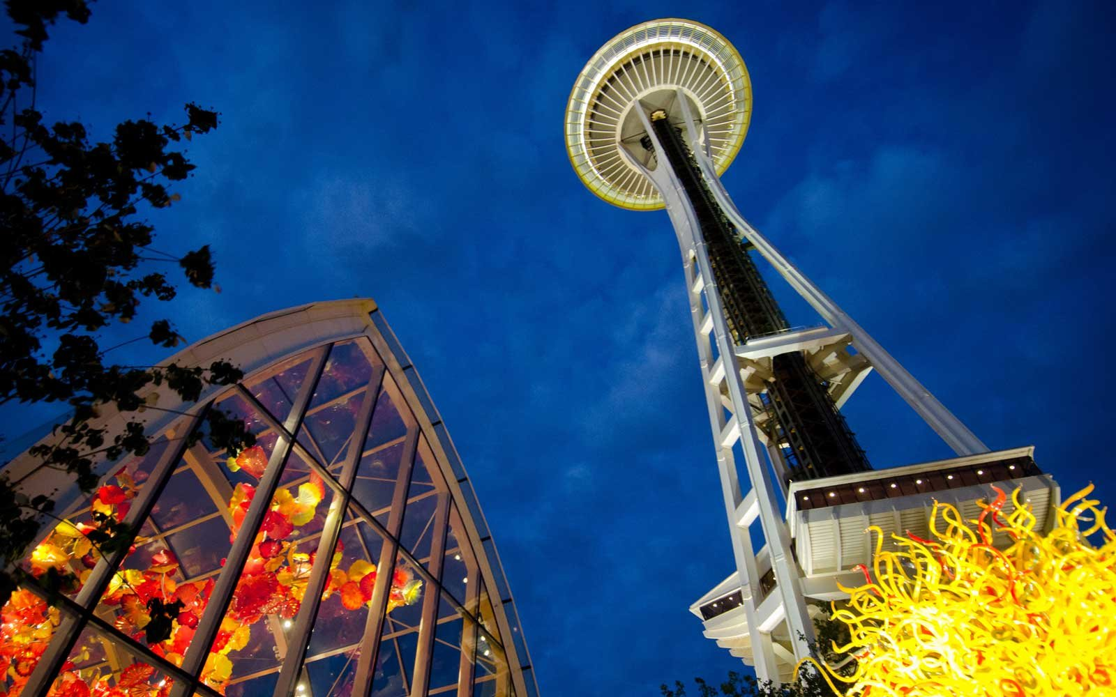 Chihuly Sculptures and Seattle's Space Needle
