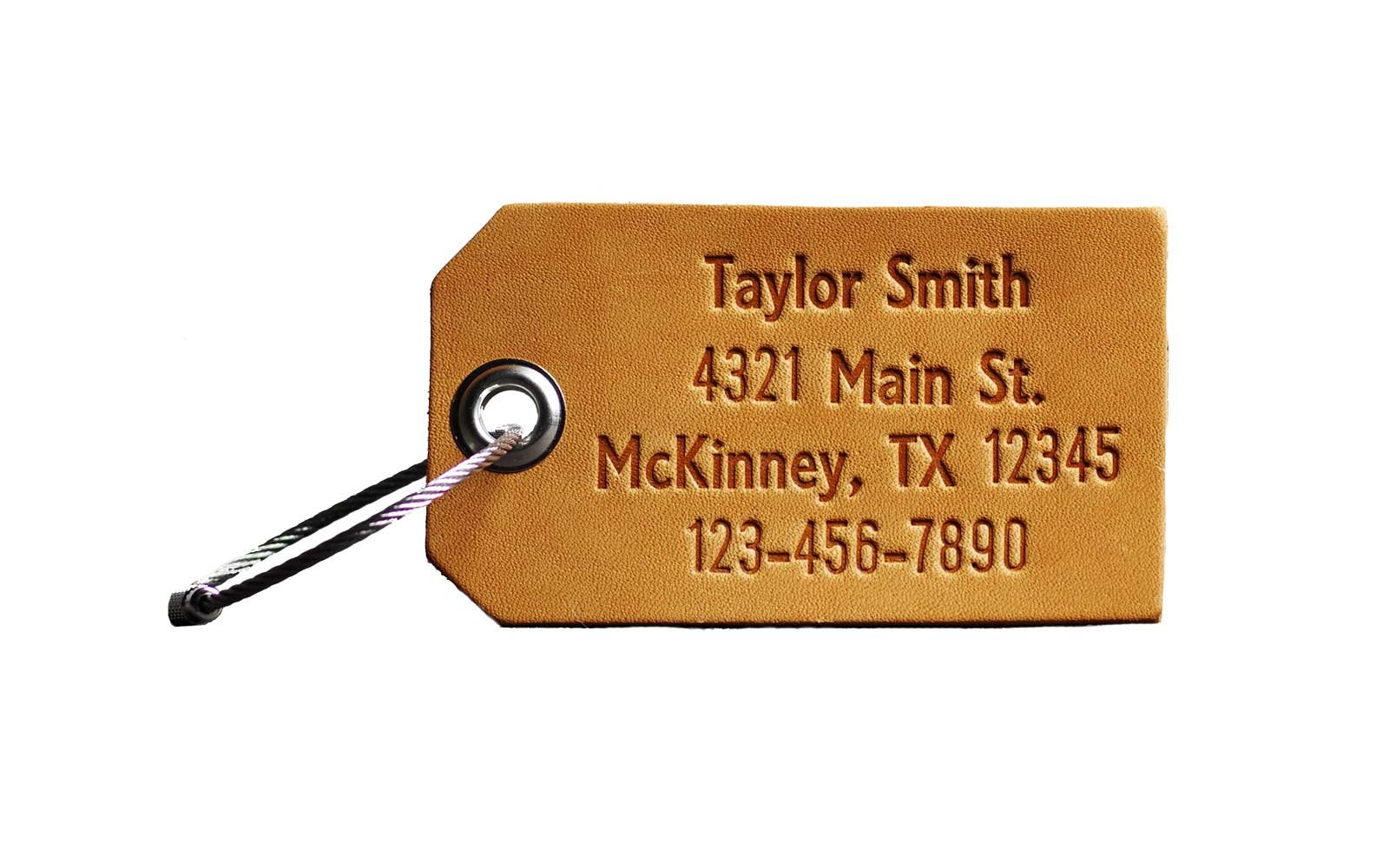 personalized etsy luggage tag