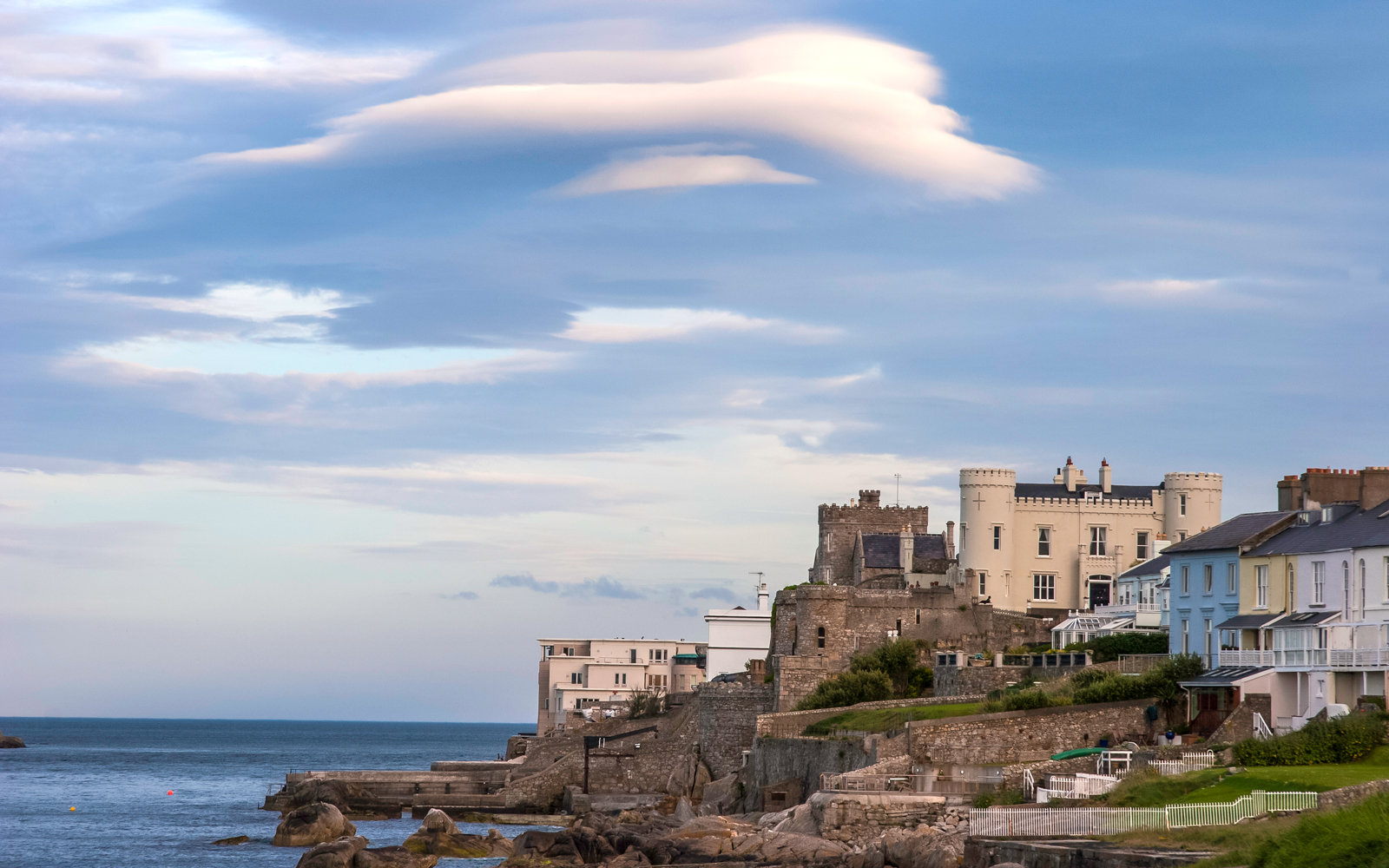 Clouds over Dalkey Island and the Dublin area's finest real estate
