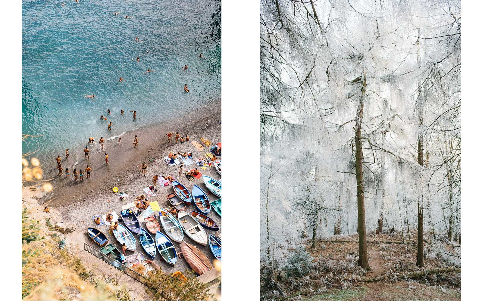 Left: Praiano 2017, by Lucy Laucht. Right: Ilkley Moor, 2008, by Michael Turek