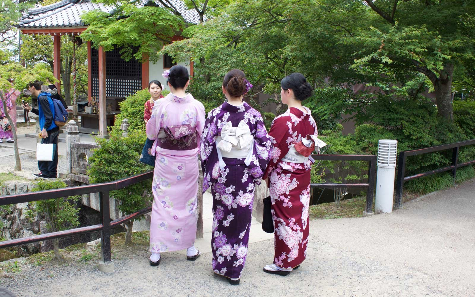 Women in Japanese kimonos