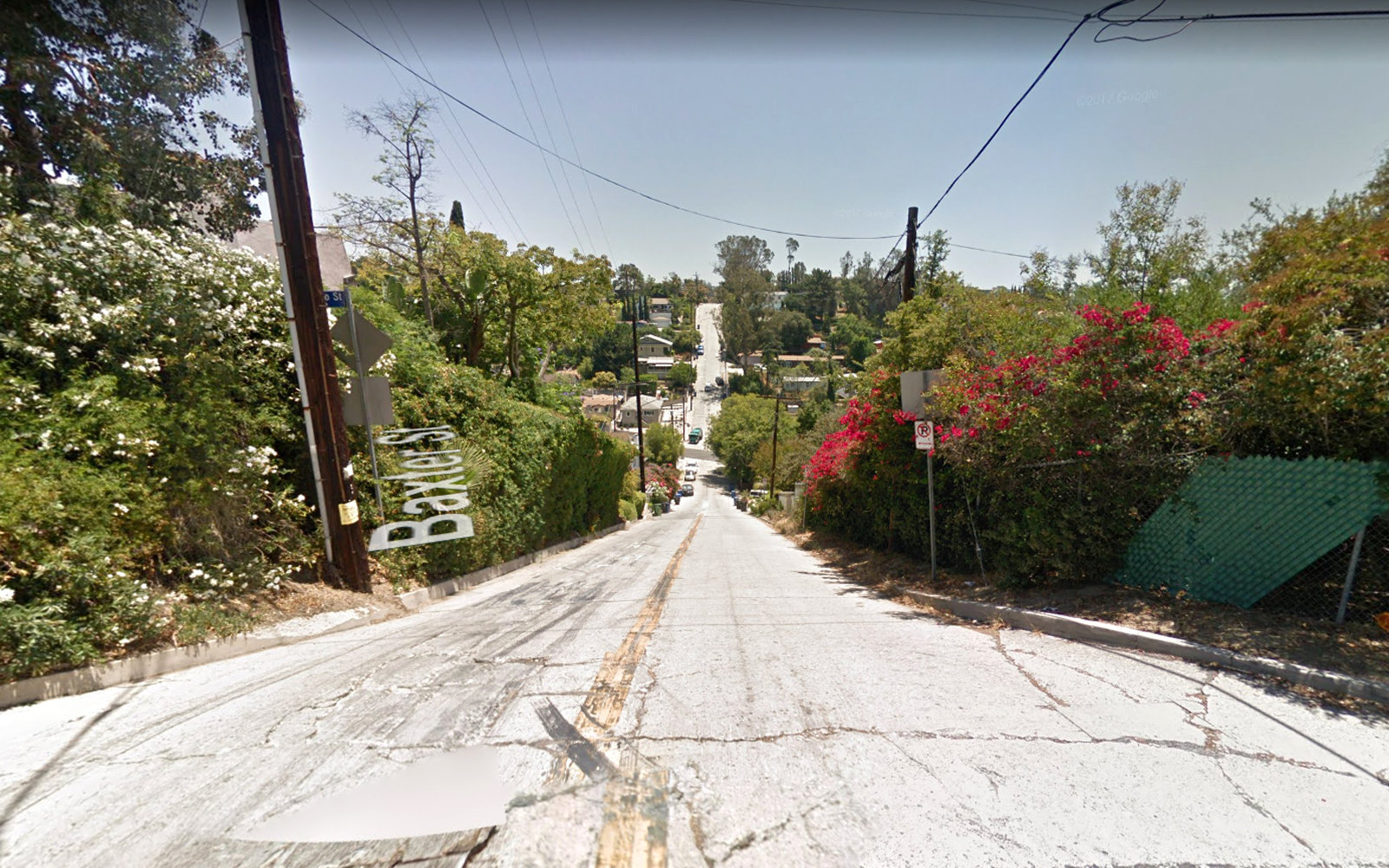 Baxter Street in Silverlake Los Angeles Google Streetview