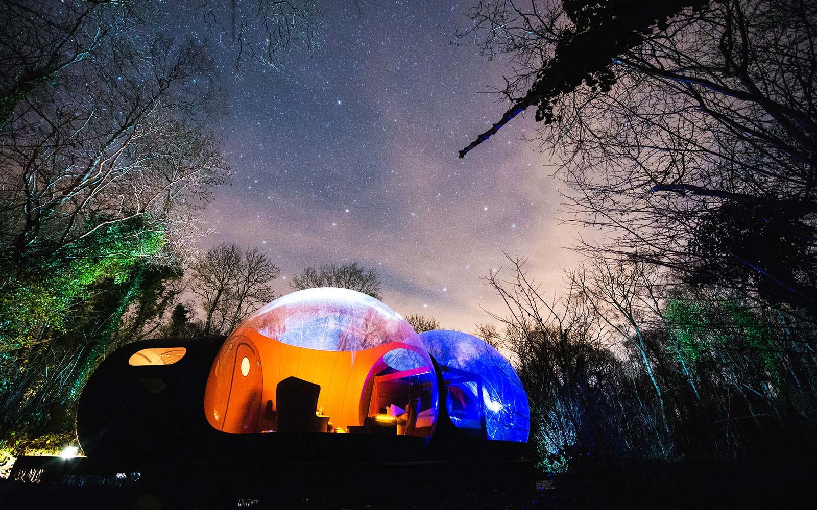 Bubble Domes Night Stars View Finn Lough Ireland