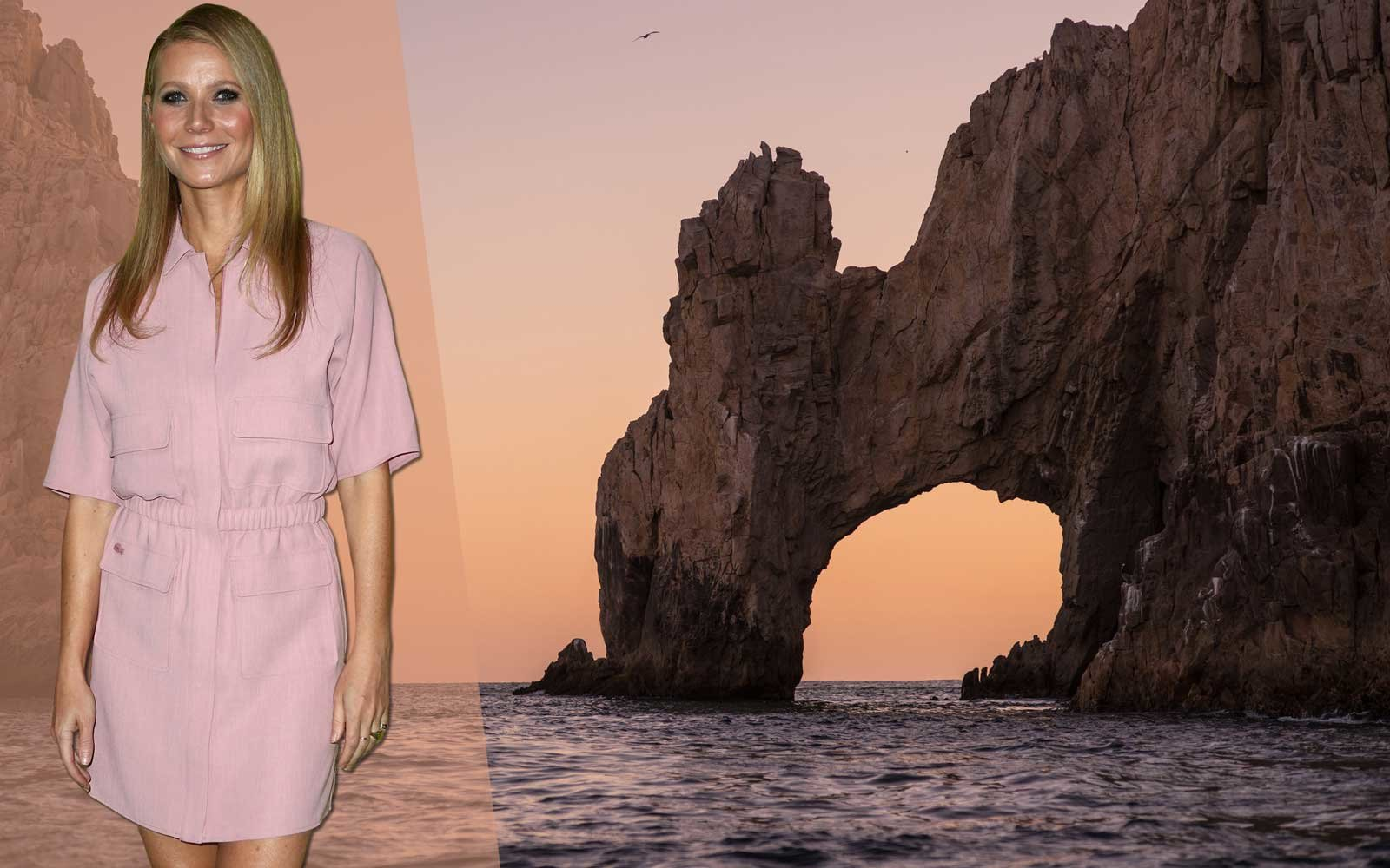 Gwyneth Paltrow with Cabo San Lucas in the background