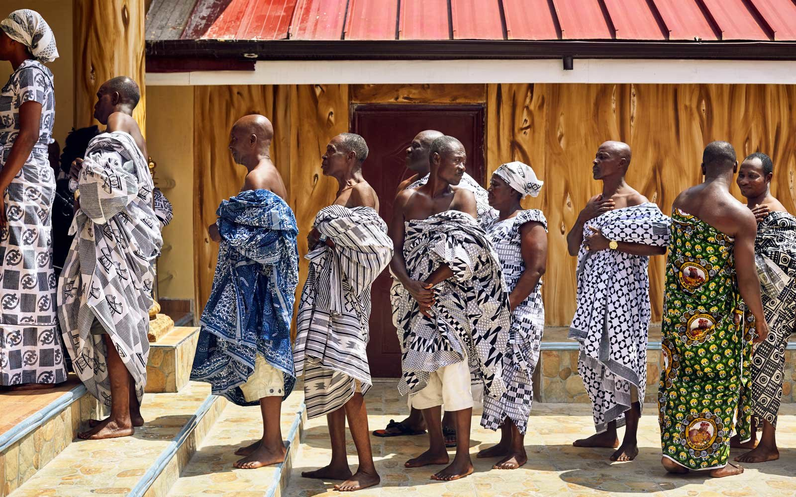 Shoulder Exposed for the King, Ghana 2014. From Circadian Landscape by Jessica Antola