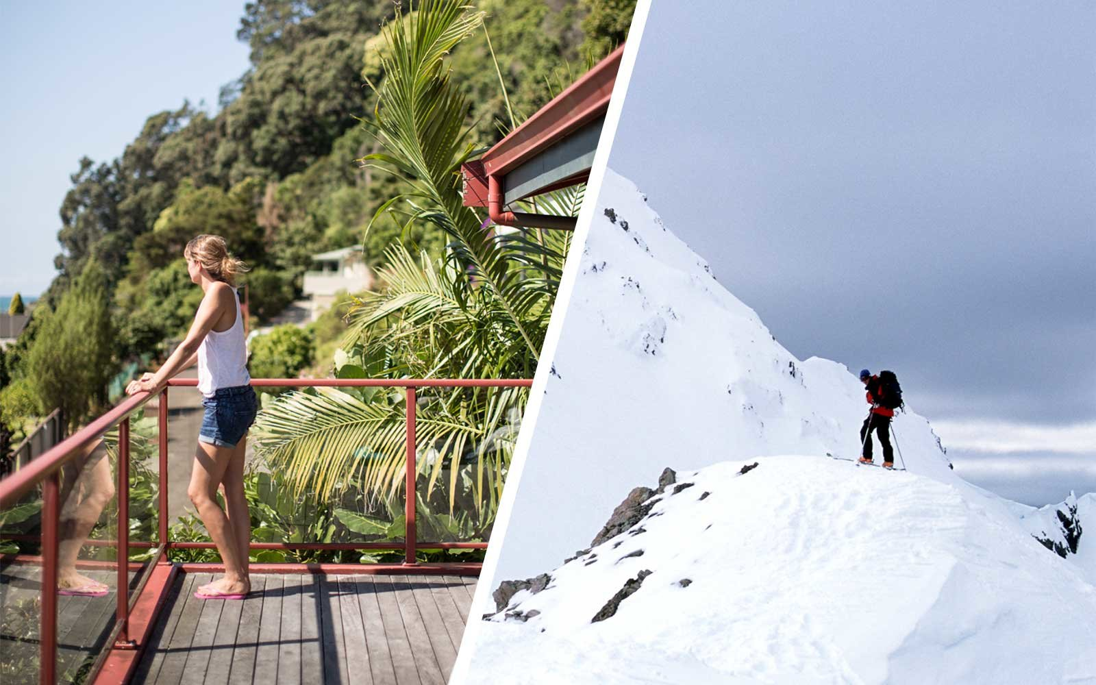 New Zealand in summer and winter