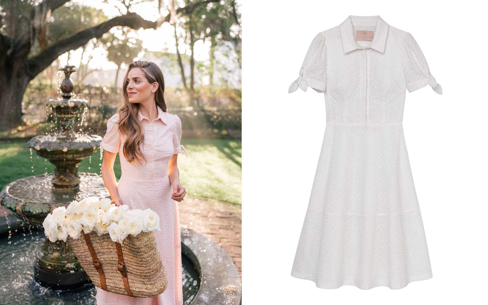 gal meets glam collection eyelet dress