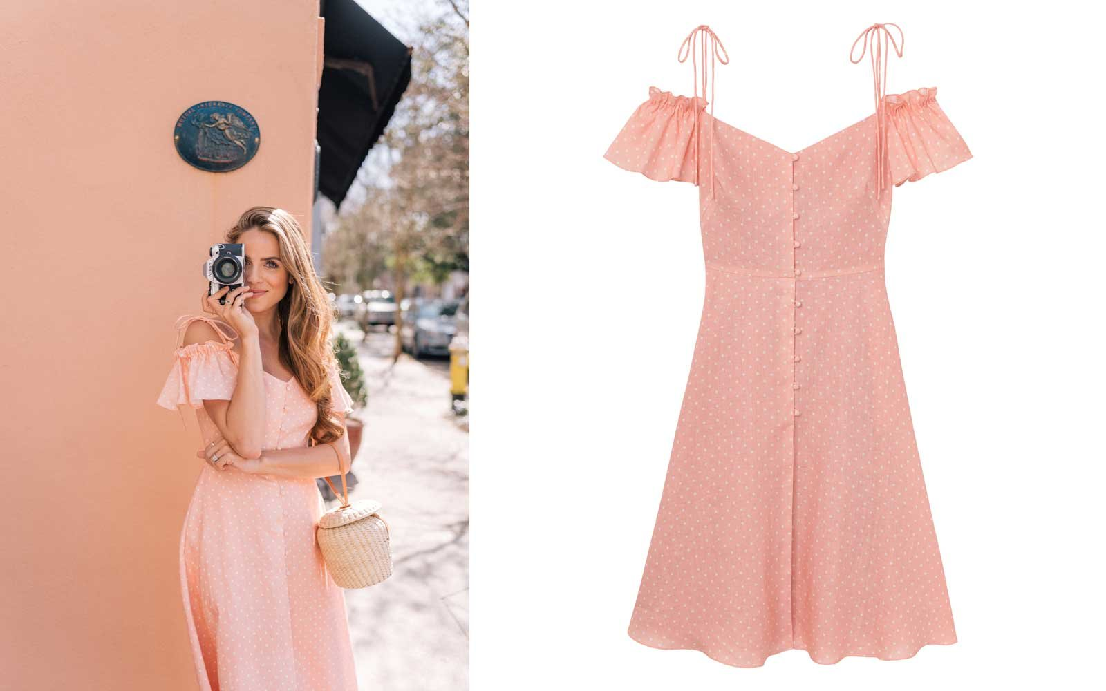 gal meets glam collection peach dress