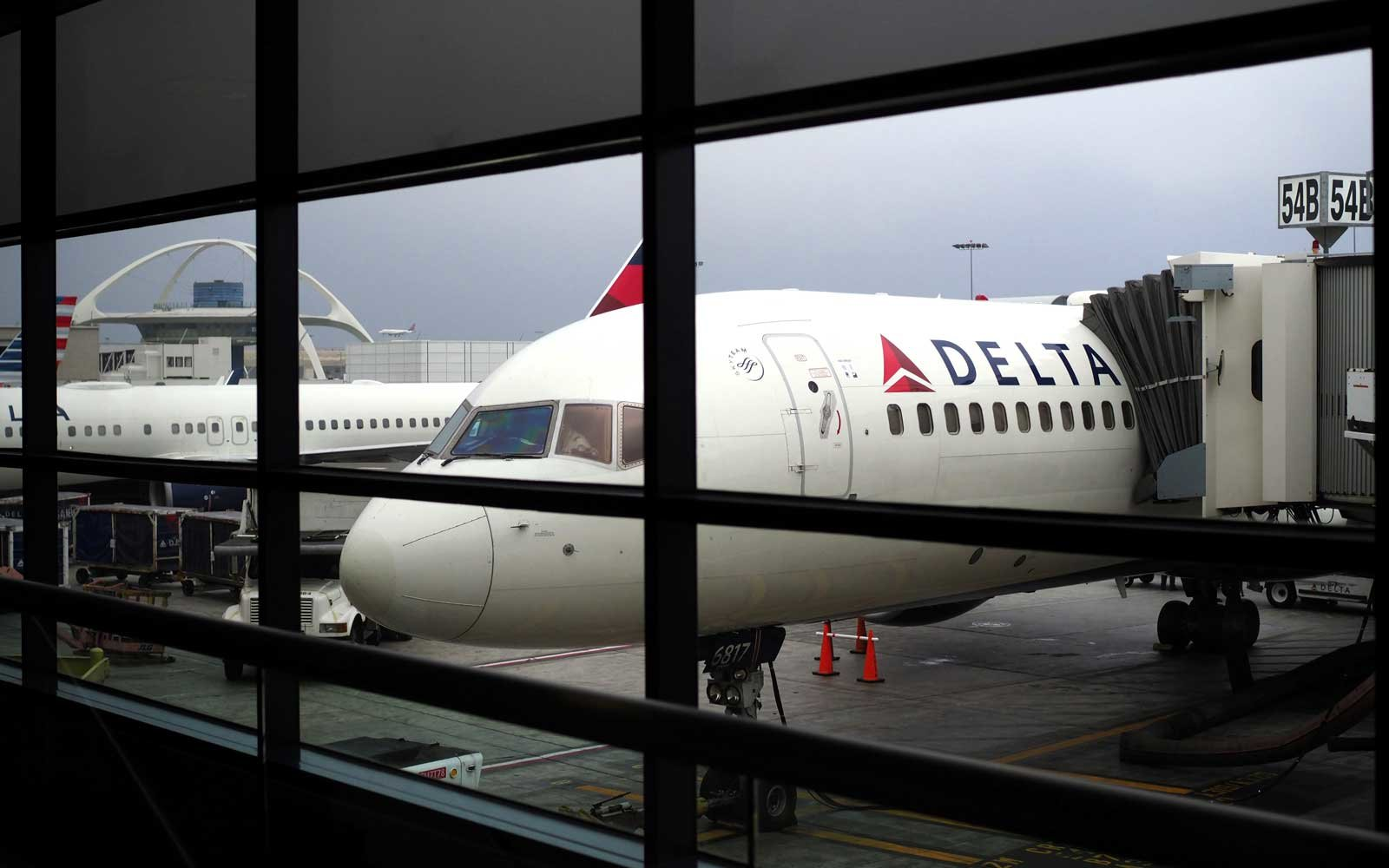 Delta Airlines flight in Terminal