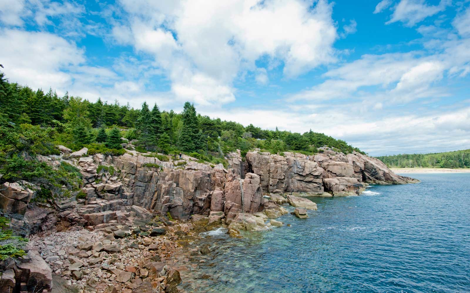 Rock Cliffs by the ocean at Acadia National Park