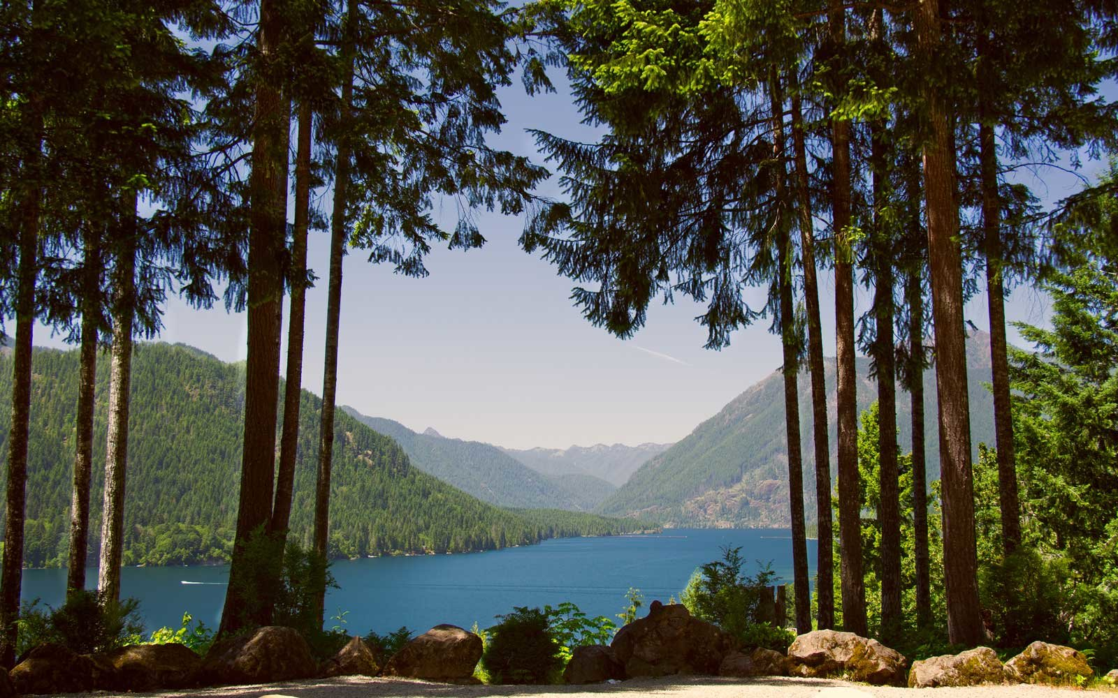 Lake Cushman, Olympic National Forest, western Washington, USA.