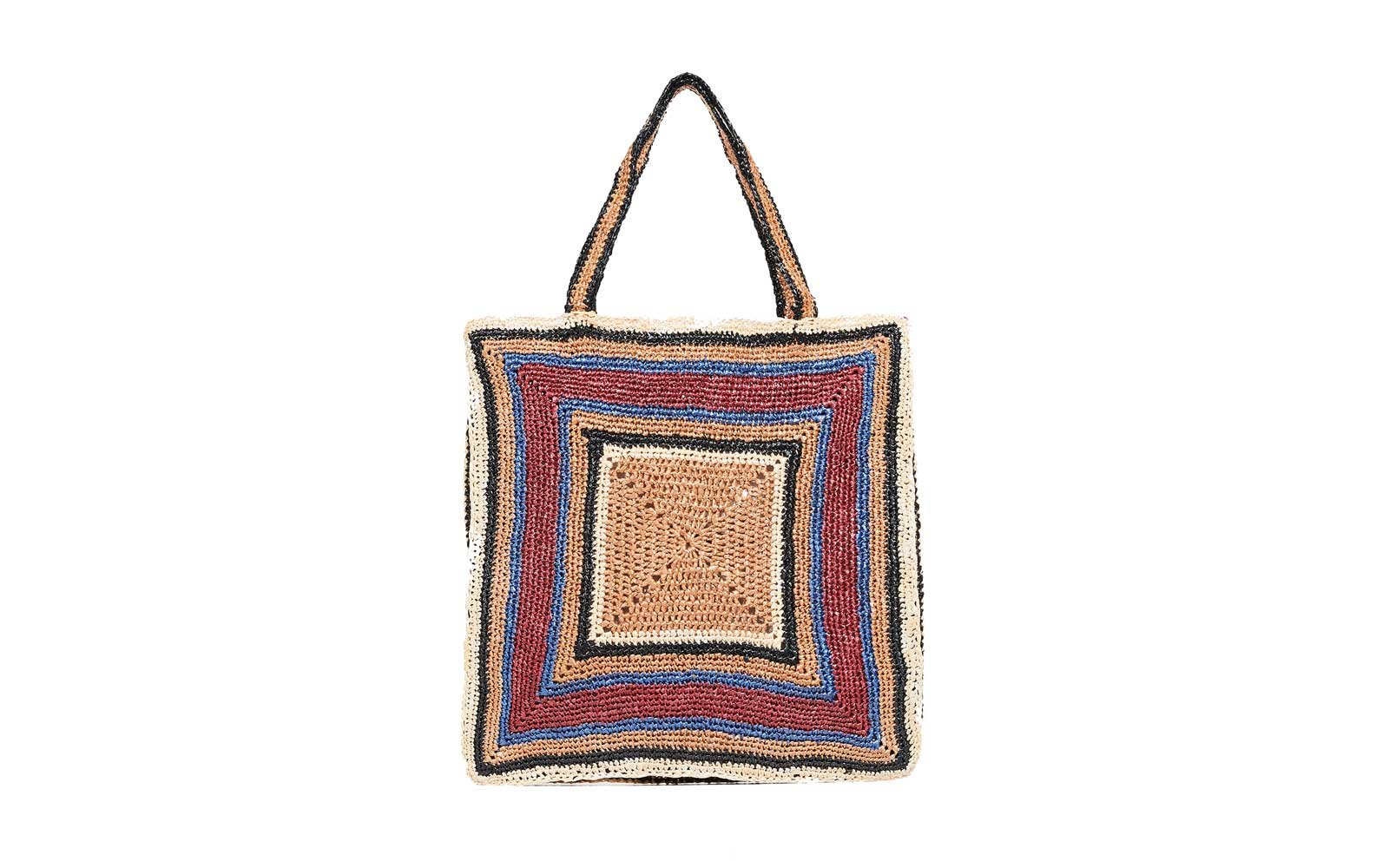antik batik colorful straw bag