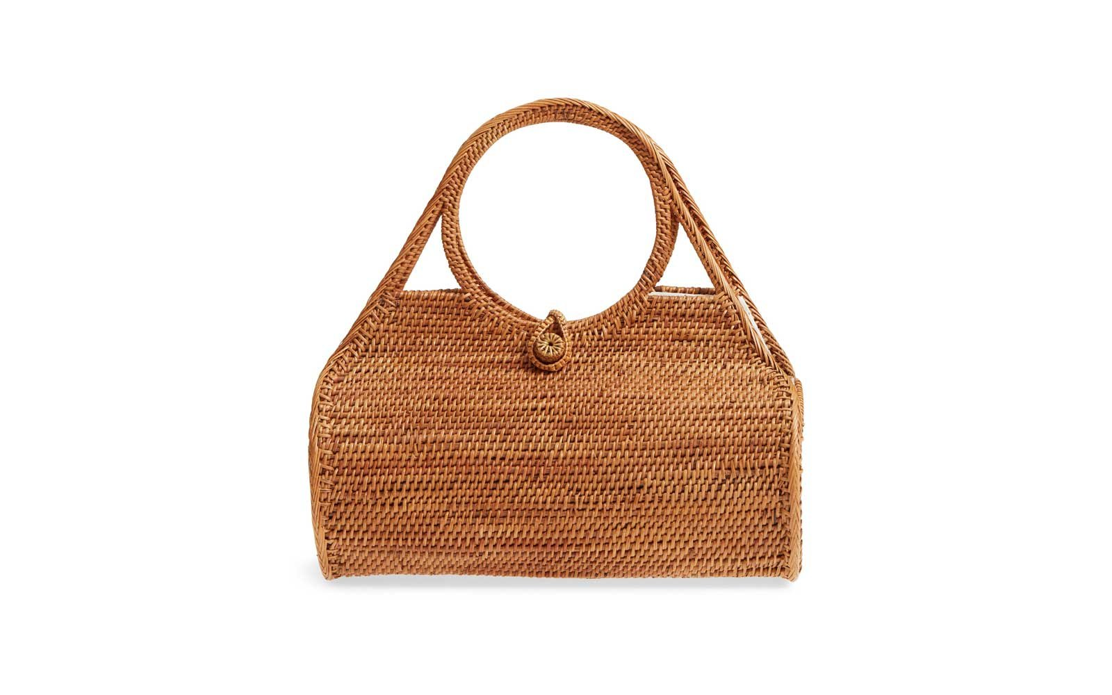 street level picnic straw bag