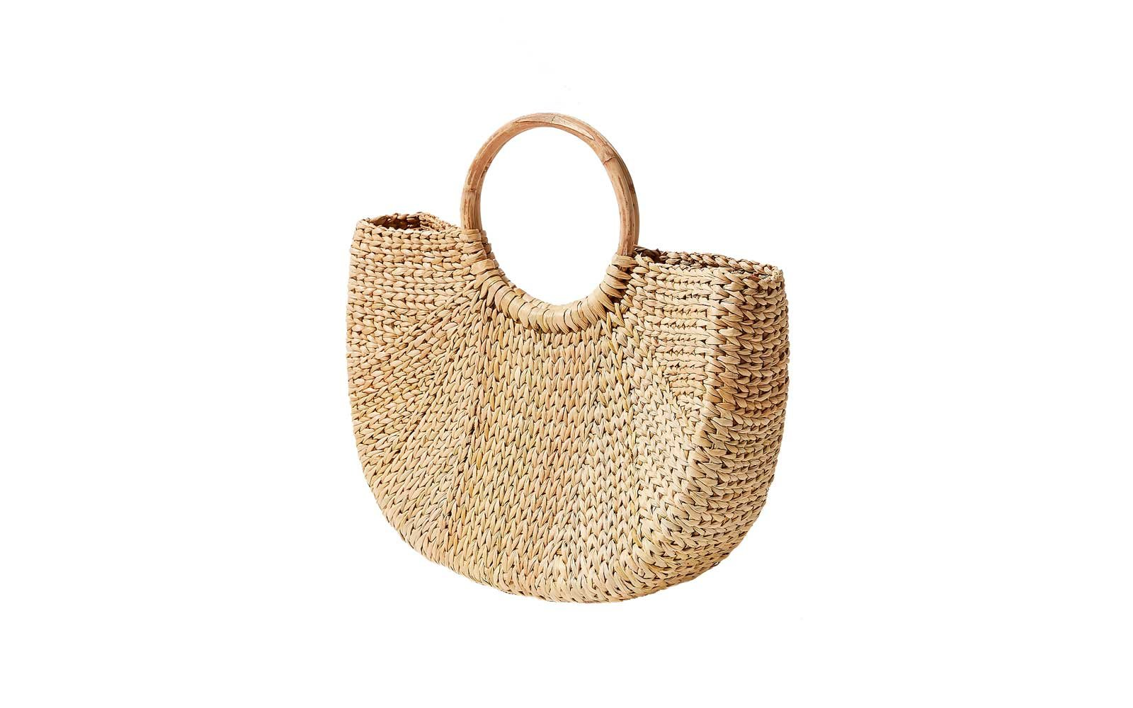 3a3682c12f Urban Outfitters Half Moon Straw Bag