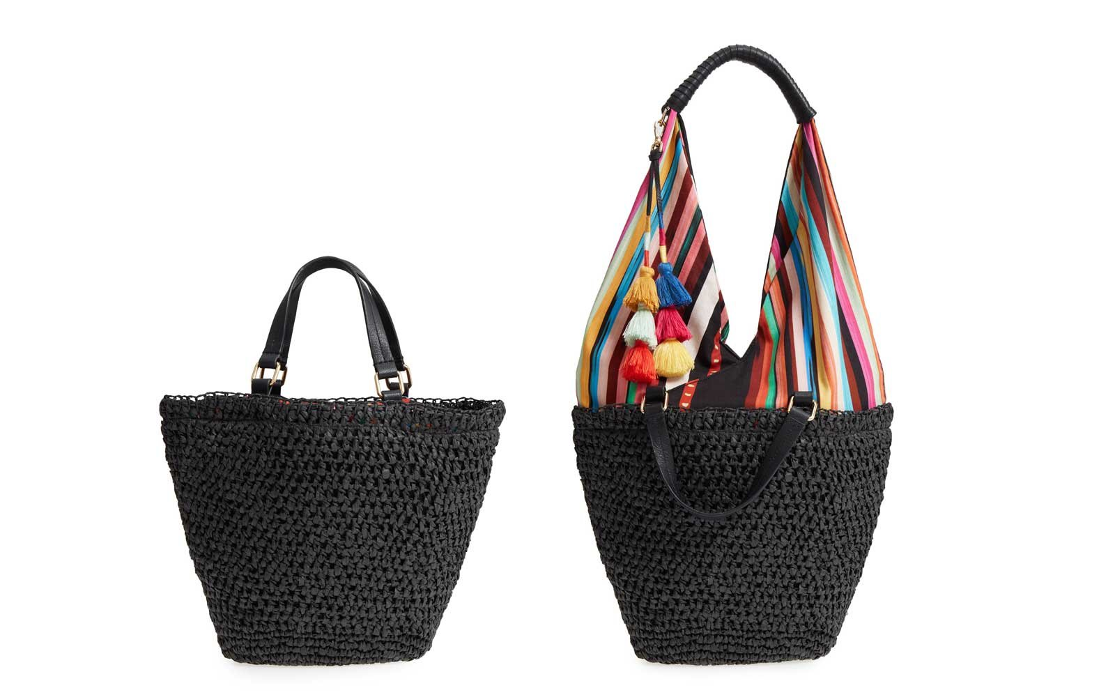 83117417d7 Vince Camuto  Hedda  Convertible Straw Tote