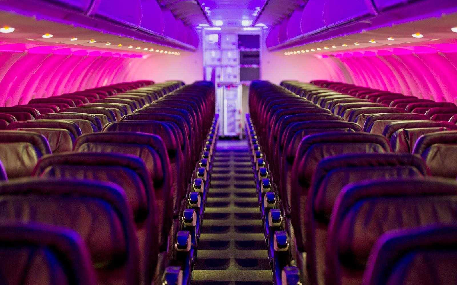 Interior of a Virgin Atlantic plane