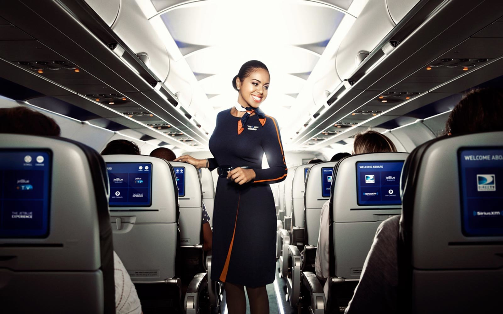 PR photo of JetBlue flight attendant