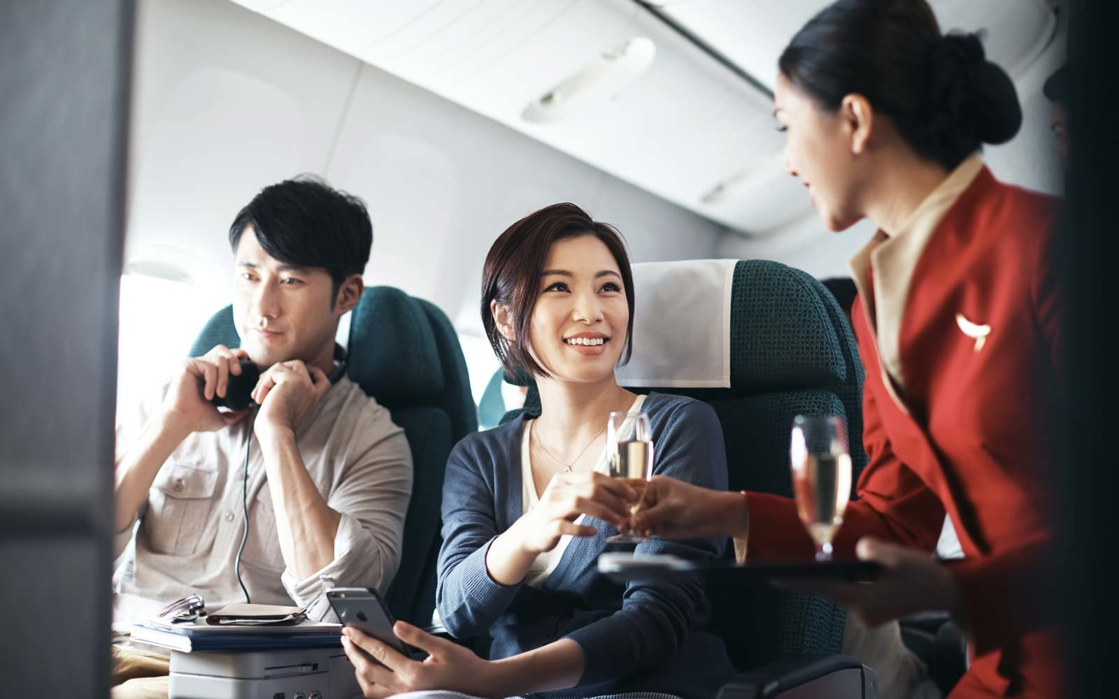 Cathay Pacific in-flight service