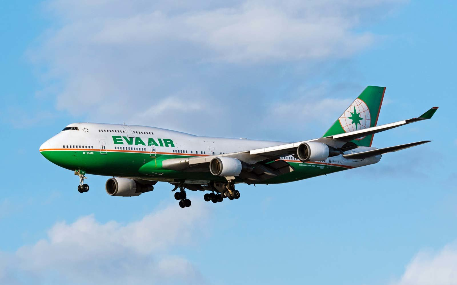 EVA Air Boeing 747 in flight