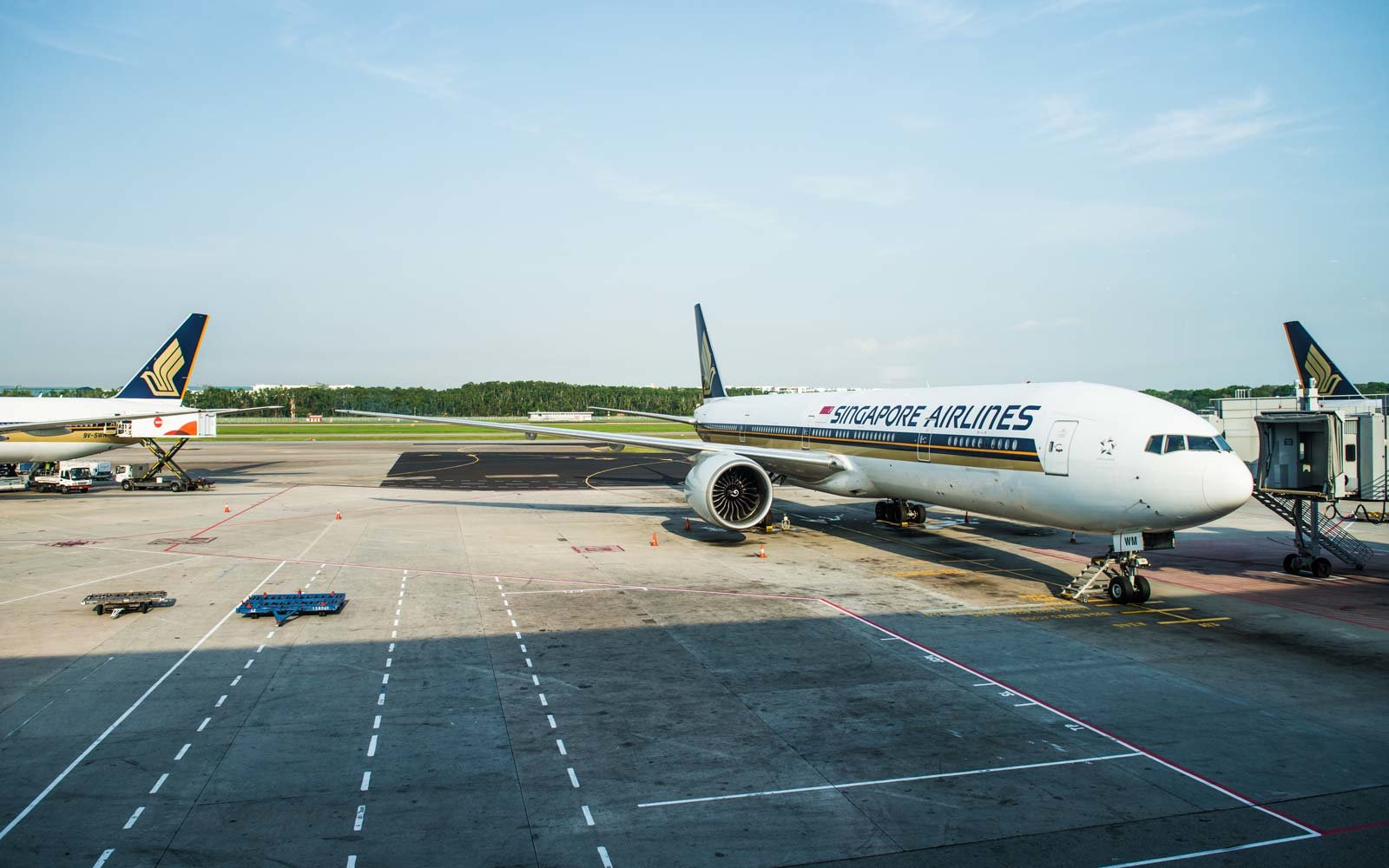 Singapore Airlines planes at Changi airport