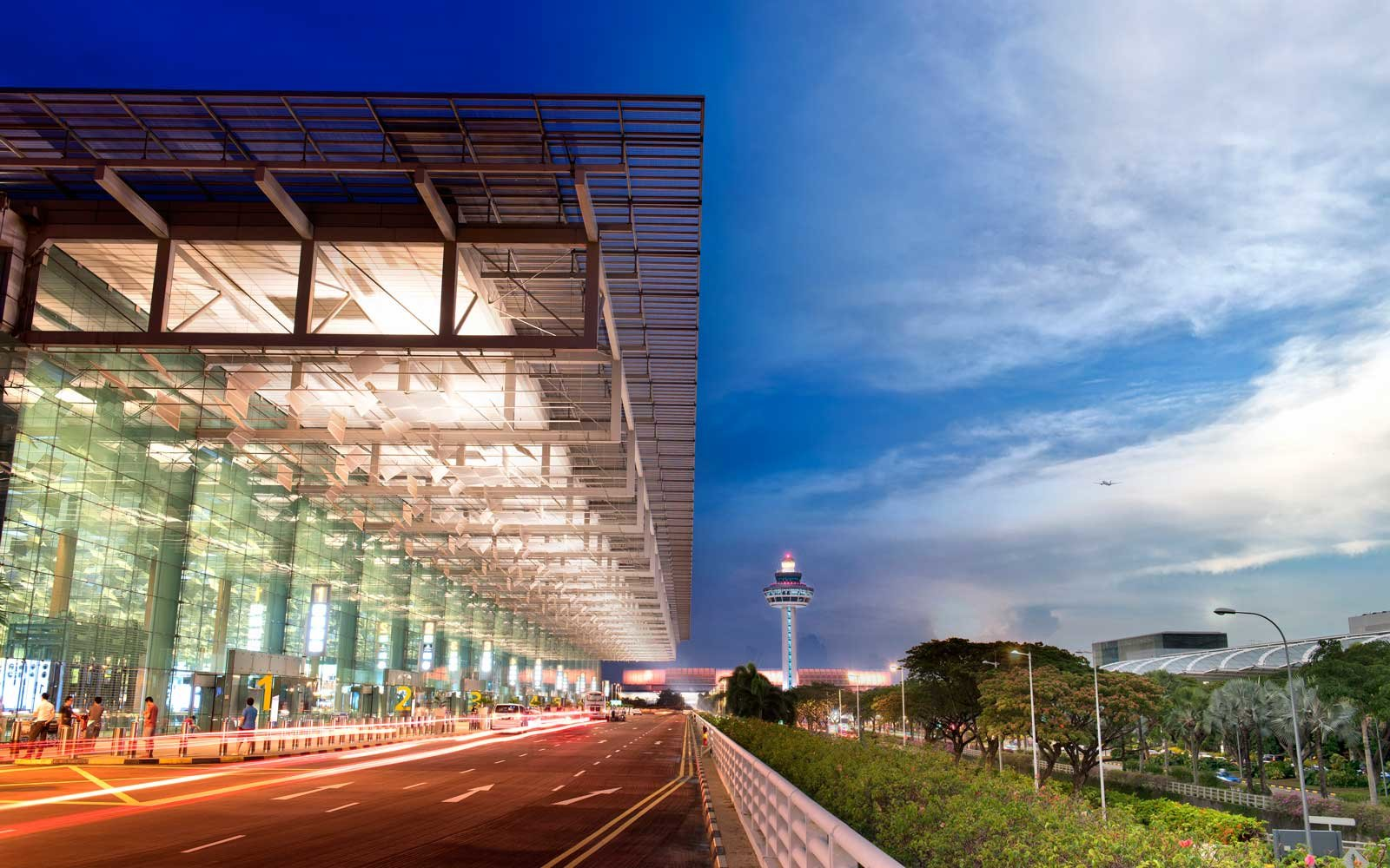 Exterior of Terminal 3, Changi Airport in Singapore