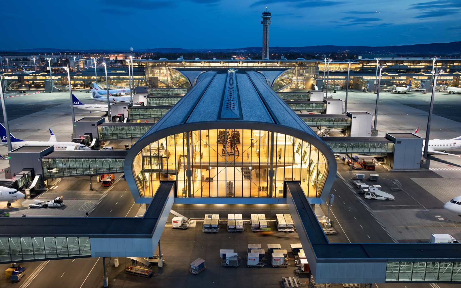 Oslo Airport exterior, in Norway