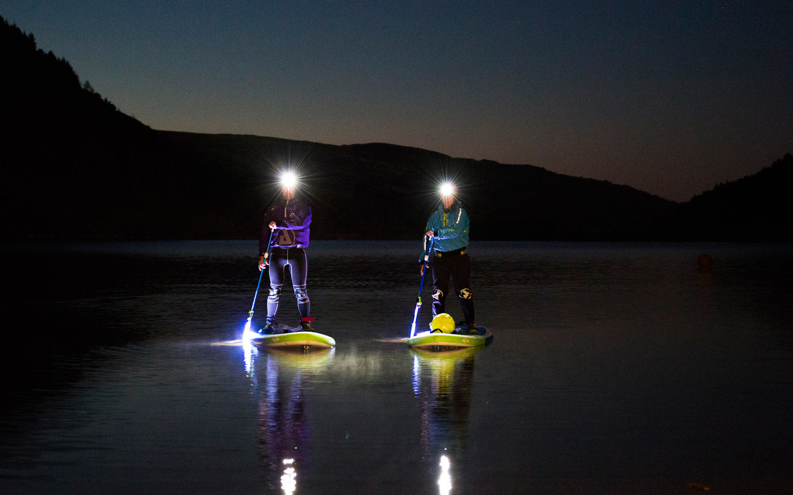Stand-Up Paddleboarding, Moonlight, Wales, UK