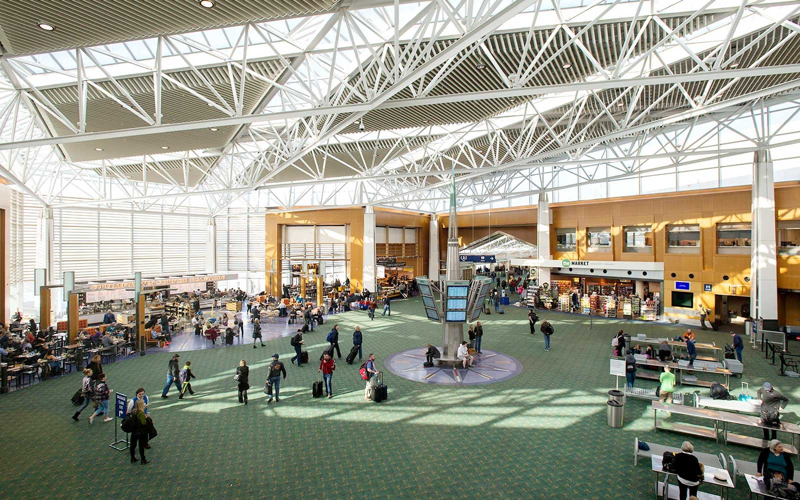 Interior of PDX Portland Airport
