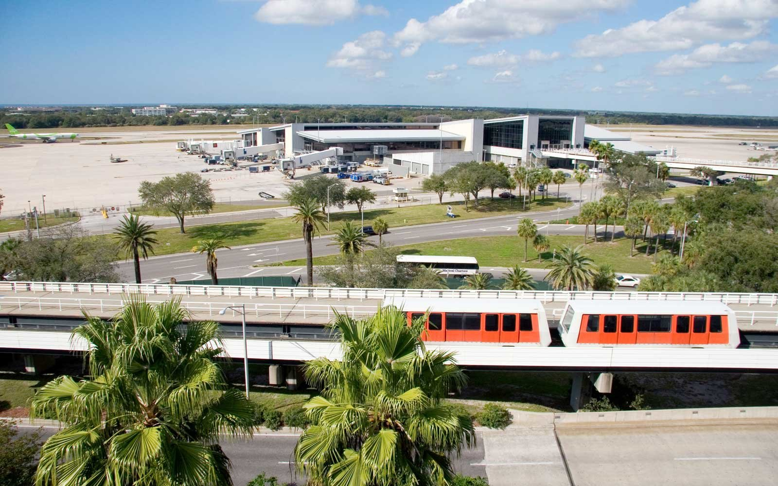 Monorail at the Tampa International Airport Tampa Florida