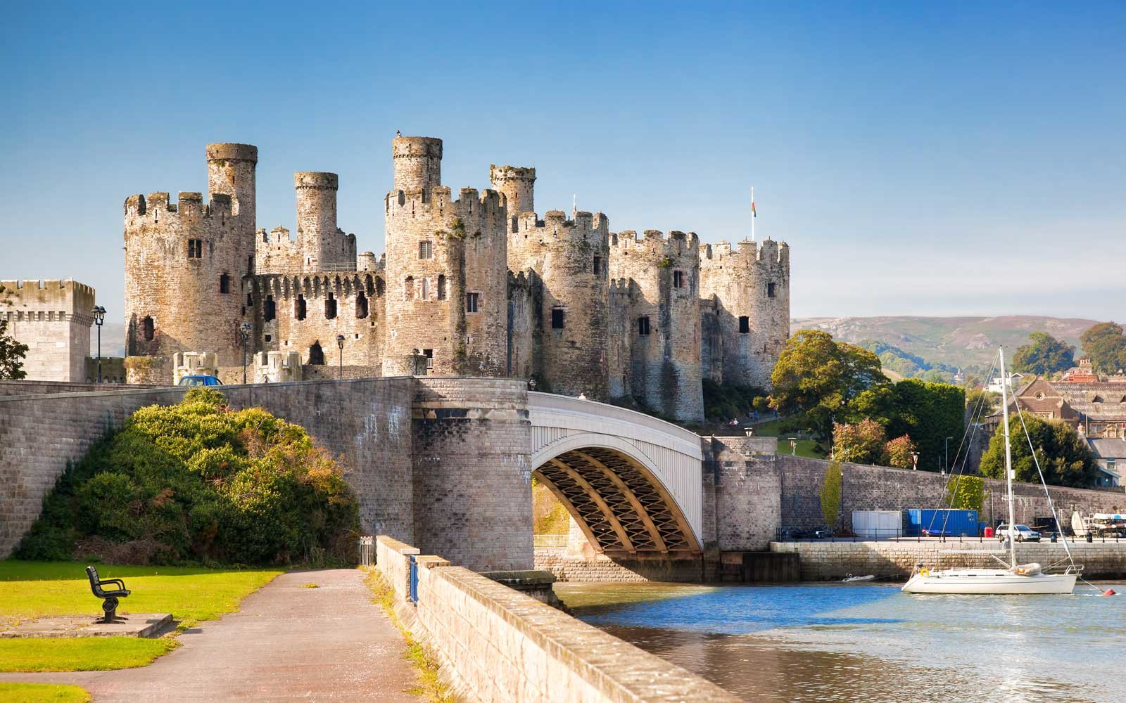 Conwy Castle in Wales, United Kingdom