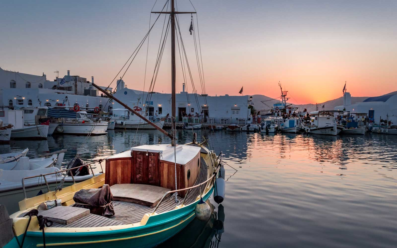 Naoussa port in Paros, Grrece