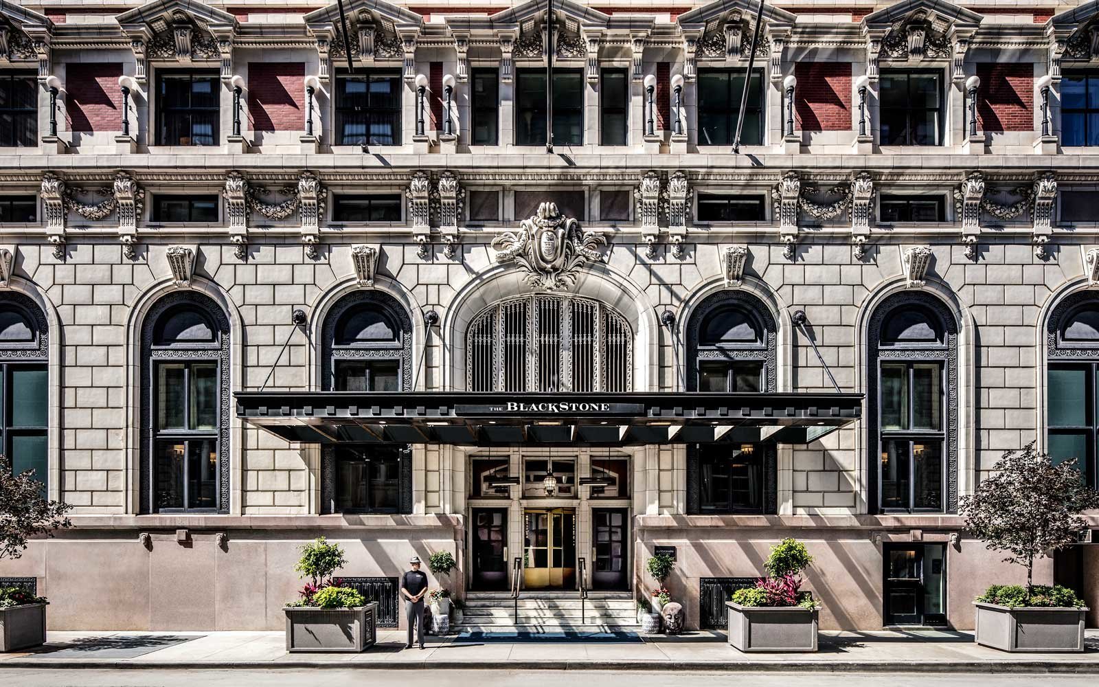 Exterior of Chicago's Blackstone Hotel