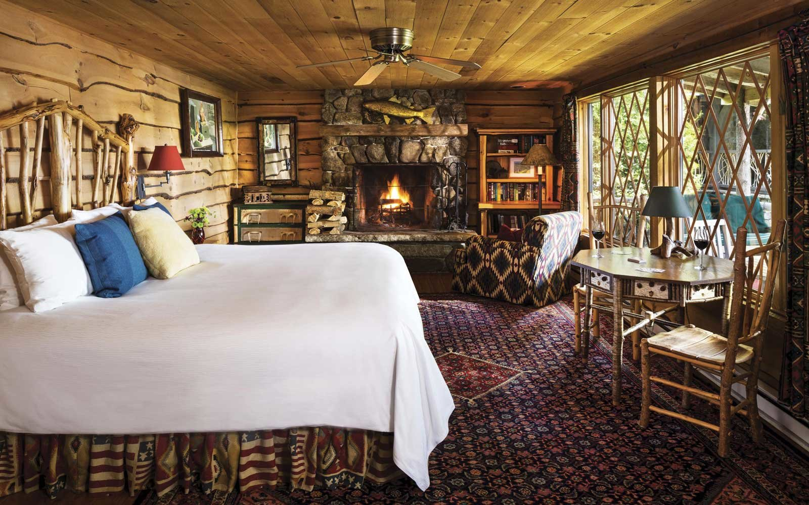 Cabin at the Lake Placid Lodge in upstate New York